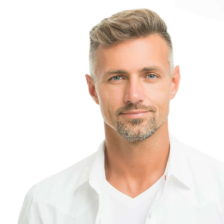 Handsome early 40's man with great skin